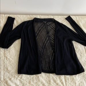 Express black cardigan with lace
